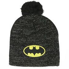 Capuchón Batman Metálico Lurex Pom Gorro Invierno Hat DC Historietas Bioworld