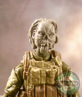 "MH377 Custom Cast Zombie head #3 use w/ 3.75"" GI Joe Star Wars Marvel Acid Rain"