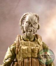 "MH377 Custom Cast Zombie head #3 use w/ 3.75"" GI Joe Star Wars Marvel Acid Rain"