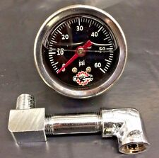 HARLEY IRONHEAD SPORTSTER OIL PRESSURE GAUGE pipe MOUNT bobber chopper black 60