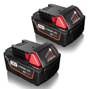 2X for Milwaukee M18 M18B4 48-11-1840 48-11-1828 XC 5.0AH 18V Lithium Battery