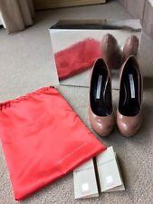 GIANMARCO LORENZI (£780) Donna Decolte Guanto Larice Block Heel Platforms Sz 36