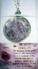 SUNCATCHER WITH AMETYHYST CRYSTALS FOR STABILITY & PROTECTIN GIFT BOXED