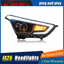 Headlights assembly For Hyundai Creta 2015-2018 Bi-xenon Lens Projector LED DRL