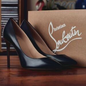 Christian Louboutin Pigalle Pumps Size UK 4 Black Leather 100mm New RRP £545