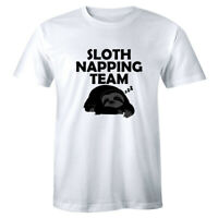 Sloth Napping Team Let's Nap Instead Funny Shirt Men's Premium T-shirt Tee