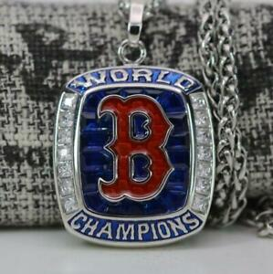 Special Edition Boston Red Sox World Series Combo Silver Pendant & Ring For Men