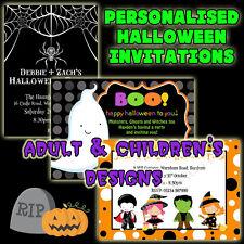 Personalised HALLOWEEN PARTY Invitations x 10   Halloween Birthday Party Invites
