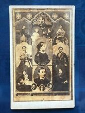 cdv Queen Victoria and family by Dady Limjee Panday of Bombay 1870s