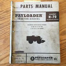 International Hough H 70 Parts Manual Book Catalog Wheel Payloader Shovel Guide