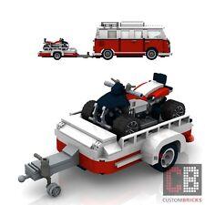 BAUANLEITUNG Eigenbau ATV Tuning Quad Anhänger für LEGO® Steine MOC T1 10220