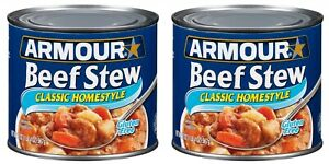 2 Armour Beef Stew Classic Homestyle Cans 20 oz each Gluten Free