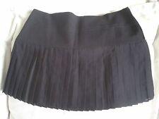 NEW - MANGO Women Black Pleated Skirt (Size EU 38) RRP £39.90