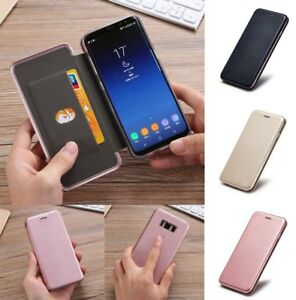 New Shockproof Leather Flip Wallet Stand Case Cover For Samsung S7 Edge S8 + J3