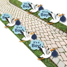 Boy Special Delivery - Baby Announcement Lawn Decorations - Outdoor Blue.
