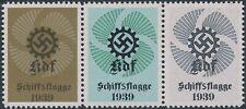 Stamp Replica Label Germany 0205 WWII Volkswagen VW KDF Ship's Flag logo MNH