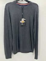 Ted Baker Men's Gray Crew Neck Long Sleeve Pullover Wool Blend Sweater Size 6 XL