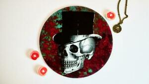 Rust Skull Chopping Board / Worktop Saver / Serving Platter Cake Plate Steampunk