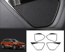 For Peugeot 3008 5008 GT 2017 2018 Steel Interior Door Speaker Cover Trim 4pcs