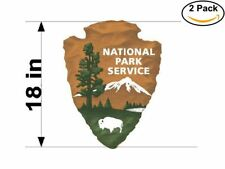 national park service 2 Stickers 18 Inches Sticker Decal