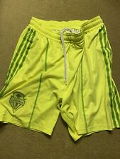 Mens Authentic Adidas Seattle Sounders Team Shorts Lined Large L