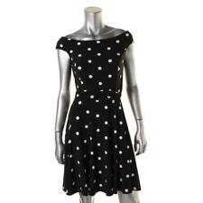 Lauren Ralph Lauren 8825 Womens B/W Polka Dot Sleeveless Casual Dress 16 BHFO