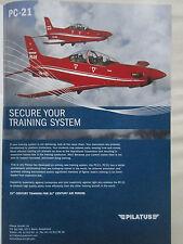 10/2006 PUB AVION PILATUS PC-21 TRAINER SWISS AIRCRAFT FLUGZEUG ORIGINAL ADVERT