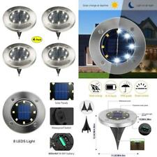 Solar Ground Lights 8 Led Solar Disk Light Waterproof Outdoor In Ground Light
