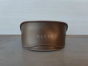 Gucci  Brown Leather Sunglasses only Case box excellent condation hardly used