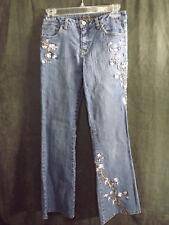 Limited Too Jeans Girls Size 12  Embellished Blue Denim Cut