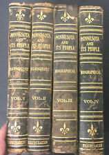 Minnesota and its People Burnquist S.J. Clarke Publishing 1924 4 volumes history