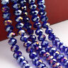 diy 100 (±3) PCS ,4 X 6 mm AB Blue Colors Crystal Faceted Abacus Loose Beads
