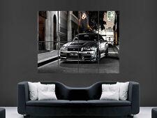 NISSAN GTR A SILVER AUTO Muro Art Immagine grande POSTER GIGANTE