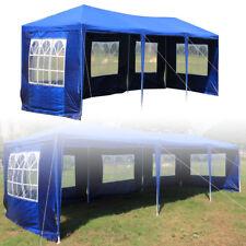3x9m Faltpavillon Partyzelt Garten Pavillon Bierzelt Marktstand Festzelt Blau