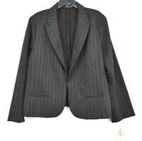 Amanda & Chelsea Womens Herringbone Stripe Ponte Knit Blazer Jacket Career 3X