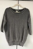 Aritzia Wilfred Cashmere Silk Ribbed Lightweight Sweater Small 3/4 Sleeve