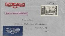 FRANCE 1949 COVER FROM BOURG LE REINE WITH 25f TO NEW YORK MY REF 153