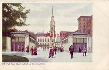 PRE-1907 PARK STREET CHURCH and SUBWAY ENTRANCE, BOSTON, MA