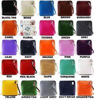 Ladies Women VERA PELLE Mini Real Leather Small Shoulder Cross Body Handbag