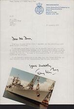 HMS Manchester. Captain A N Wigley. 1982 Letter & Photograph 1985  LL.19