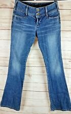 Silver Jeans Women's 30 x 35 Early vintage CANADA Button and Zip Fly Distressed