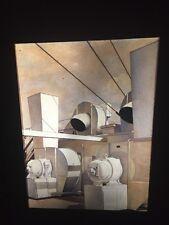 "Charles Sheeler ""Upper Deck"" Modern Art 35mm Glass Slide"