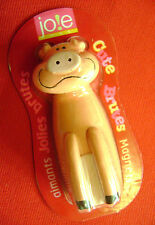 ONE NEW 'CUTE BRUTE' NOVELTY ANIMAL FRIDGE MAGNET. PIG