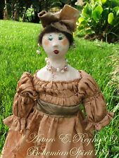 Victorian Style Maiden Moire Dress Handcrafted DOLL