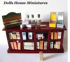 Bancone da negozio bancone da VINTAGE FARMACIA Miniatura Dollshouse