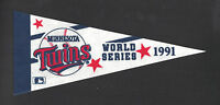 "1991 Minnesota Twins 9"" WS pennant Kirby Puckett era"