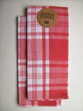 Set of 2 TOMATO BISQUE Cotton Dish Towels