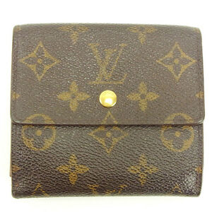 Louis Vuitton Wallet Purse Monogram Brown Woman Authentic Used Y4850