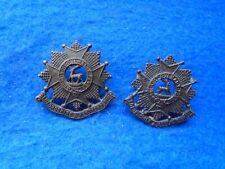 2 X 1919-1958 Bedfordshire & Hertfordshire Regiment Osd Bronze Collar Badges