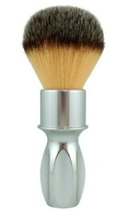 RAZOROCK Heavy Silvertip 400 Silver Plissoft - Aluminum Handle & Synthetic Hair